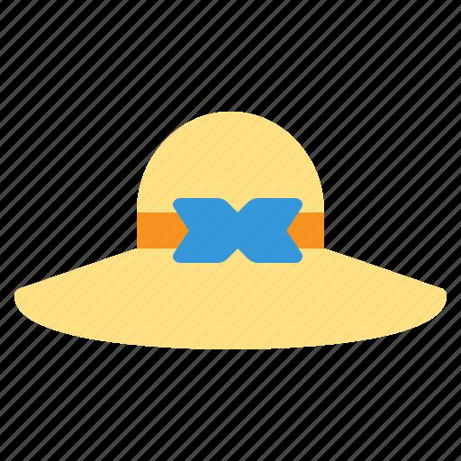 Beach, hat, pamela, straw, summer, travel, vacation icon - Download on Iconfinder