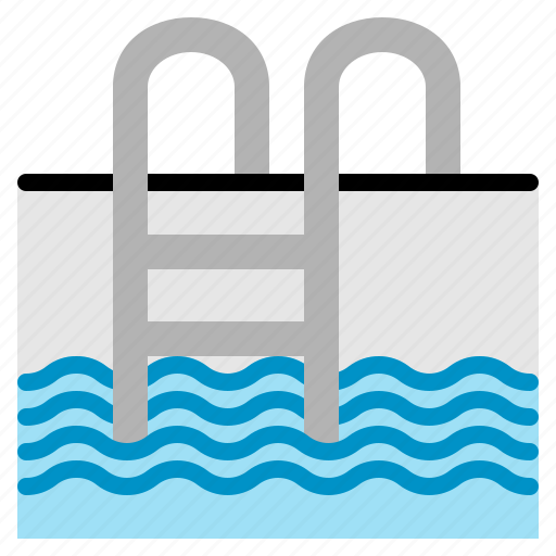 Pool, relax, sports, staircase, summer, swim, swimming icon - Download on Iconfinder