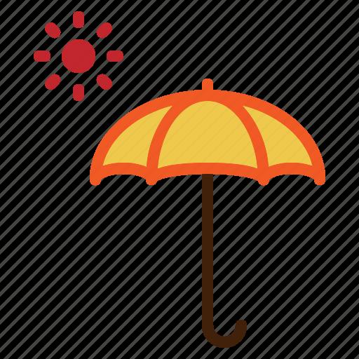 Hot, summer, sun, umbrella, uv, weather icon - Download on Iconfinder