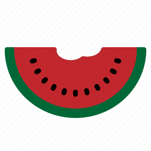 Food, fresh, fruit, slice, summer, sweet, watermelon icon - Download on Iconfinder