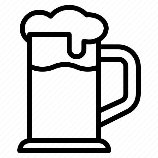 alcohol, beer, booze, cool, drink, glass, mug icon