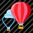 aerostat, fly, sport, travel icon