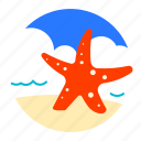 beach, sea, star, summer icon