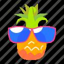 fruit, pineapple, summer, sunglass icon