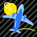 aircraft, flight, plane, travel icon