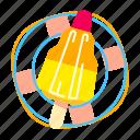 cream, ice, rocket, shaped icon