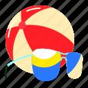 ball, beach, sun, sunglasses icon