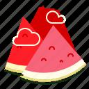 mountain, slice, summer, watermelon icon