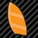 beach accessory, beach board, funboard, longboard, surfboard, watercraft, watersports icon