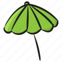 beach umbrella, brolley, bumbershoot, garden umbrella, parapluie, rainshade