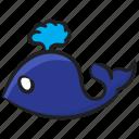 aquatic animal, creature, fish, sea life, specie, submarine, whale icon