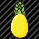 ananas, ananas comosus, organic food, pineapple, tropical fruit