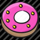 confectionery, desert, donut, doughnut, food