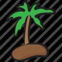 bay, beach, island, tropical area, tropical island