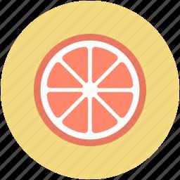 food, fruit, lemon, lemon slice, orange slice icon