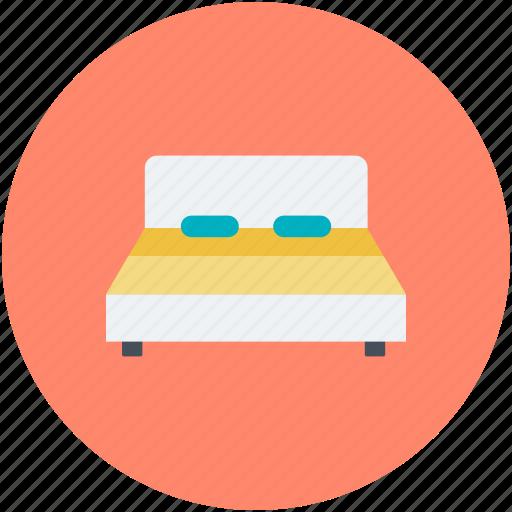 bed, bedroom, bedroom furniture, rest, sleeping icon