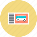 bus, bus ticket, ticket, travel ticket, travelling pass icon