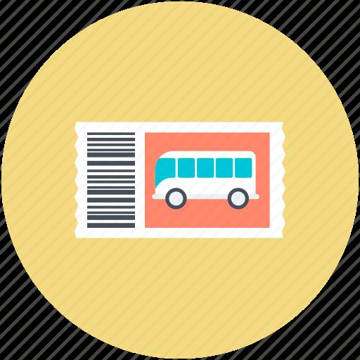 bus, bus ticket, ticket, travel ticket, travelling pass icon