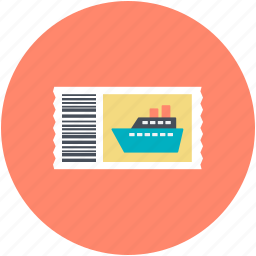 boat, boat ticket, ticket, travel ticket, travelling pass icon
