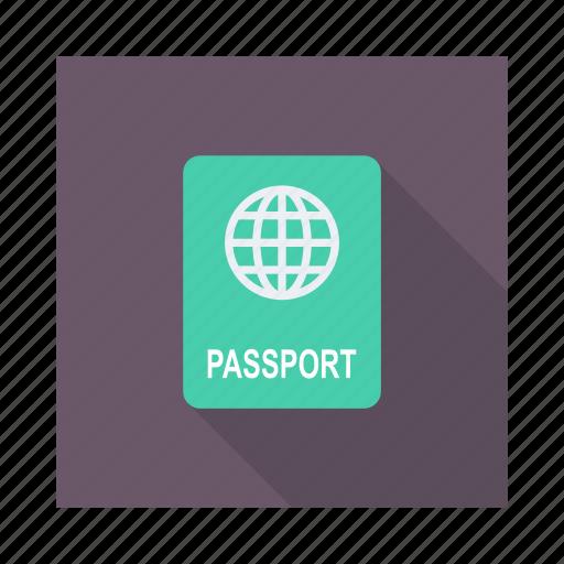 card, document, identification, identity, passport, permit, tourism icon