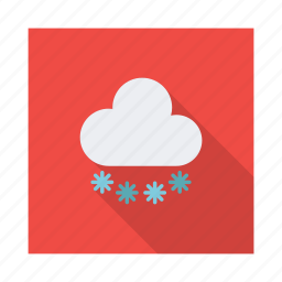 climate, clouds, cloudy, night, rain, snow, weather icon