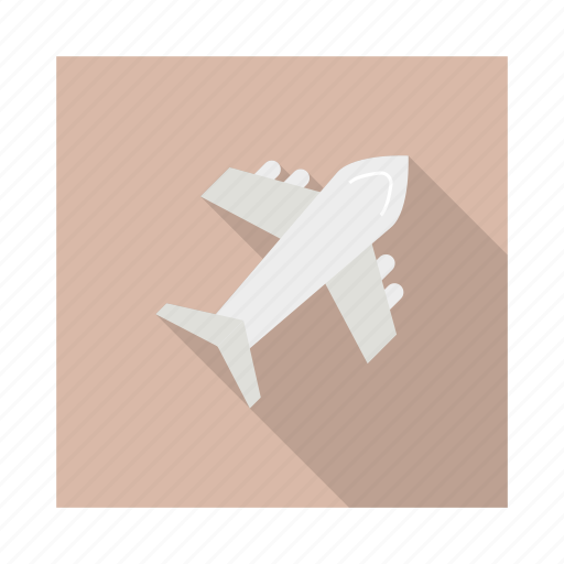 delivery, flight, paper, plane, shipping, transportation, travel icon