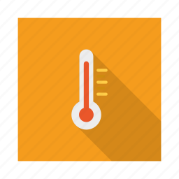 climate, forecast, temperature, thermometer, weather icon