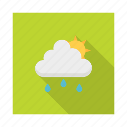 climate, clouds, night, rain, storm, sunny, weather icon