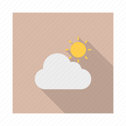 climate, clouds, day, storm, sunny, weather icon