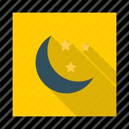 horror night, moon, spooky, star icon