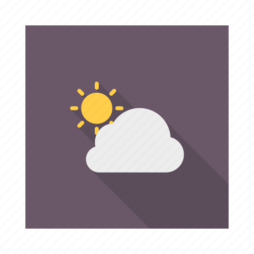 cloud, cloudy, moon, night, sun, weather icon