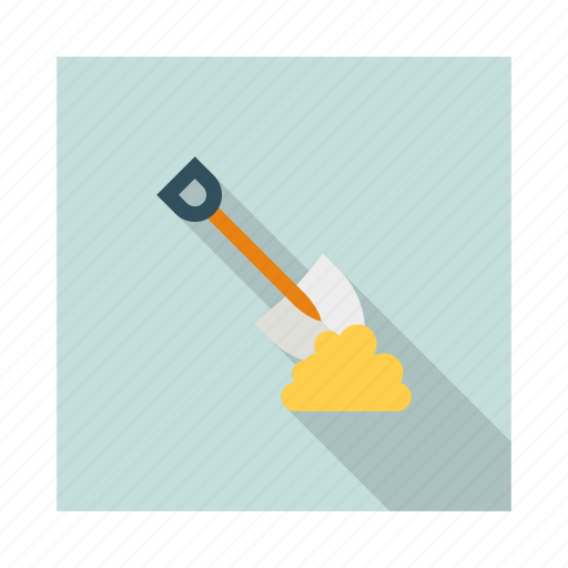 construction, digging, hand, shovel, tools, work, worker icon