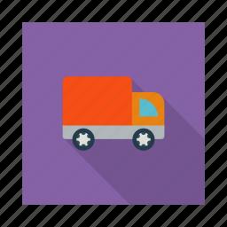 car, cargo, logistics, ship, transportation, travel, van icon