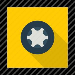 car, part, road, service, travel, truck, wheel icon