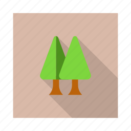 decoration, forest, garden, green, pine, tree icon