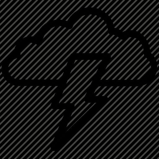 cloud, cloud lightning, power bolt, storm, thunderstorm icon