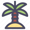 beach, island, palm, sand, summer icon
