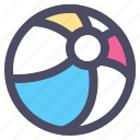 ball, beach, beach ball, sport, summer icon