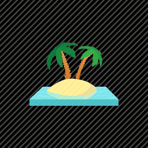 beach, cartoon, palm, summer, travel, tropical, vacation icon