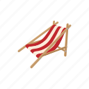 beach, cartoon, chair, chaise, furniture, longue, relaxation icon