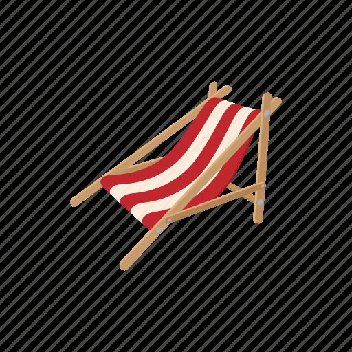 beach, cartoon, chair, chaise, furniture, longue, relaxation icon
