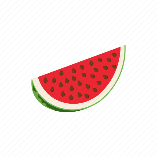 Cartoon, food, fruit, healthy, ripe, slice, watermelon icon - Download on Iconfinder