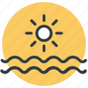 beach, sea, summer, sun, travel icon