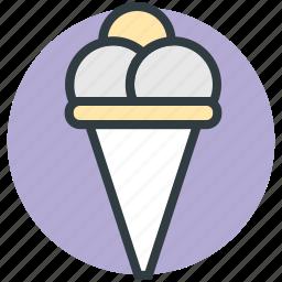 dessert, frozen dessert, icecream, icecream scoops, sweet food icon