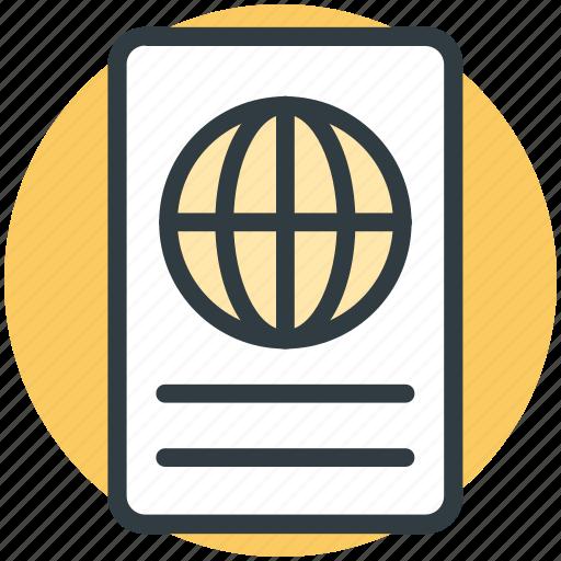 passport, tourism, travel, travel id, travel pass, travel permit, visa icon