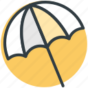 beach umbrella, garden umbrella, protection, summer, sunshade icon