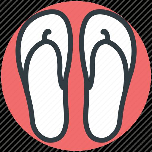beach sandal, flipflop, footwear, house slippers, pair of sandal, slippers icon