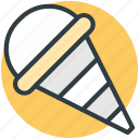 cake cone, cone, cup cone, dessert, ice cone, ice cream, sweet food icon