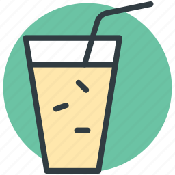 cold drink, drink, ice cubes, juice, straw icon