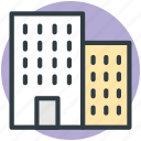 building, inn, hotel, residential building icon